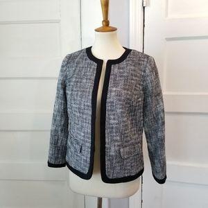 Talbots Tweed Black and White Blazer, Size 10P